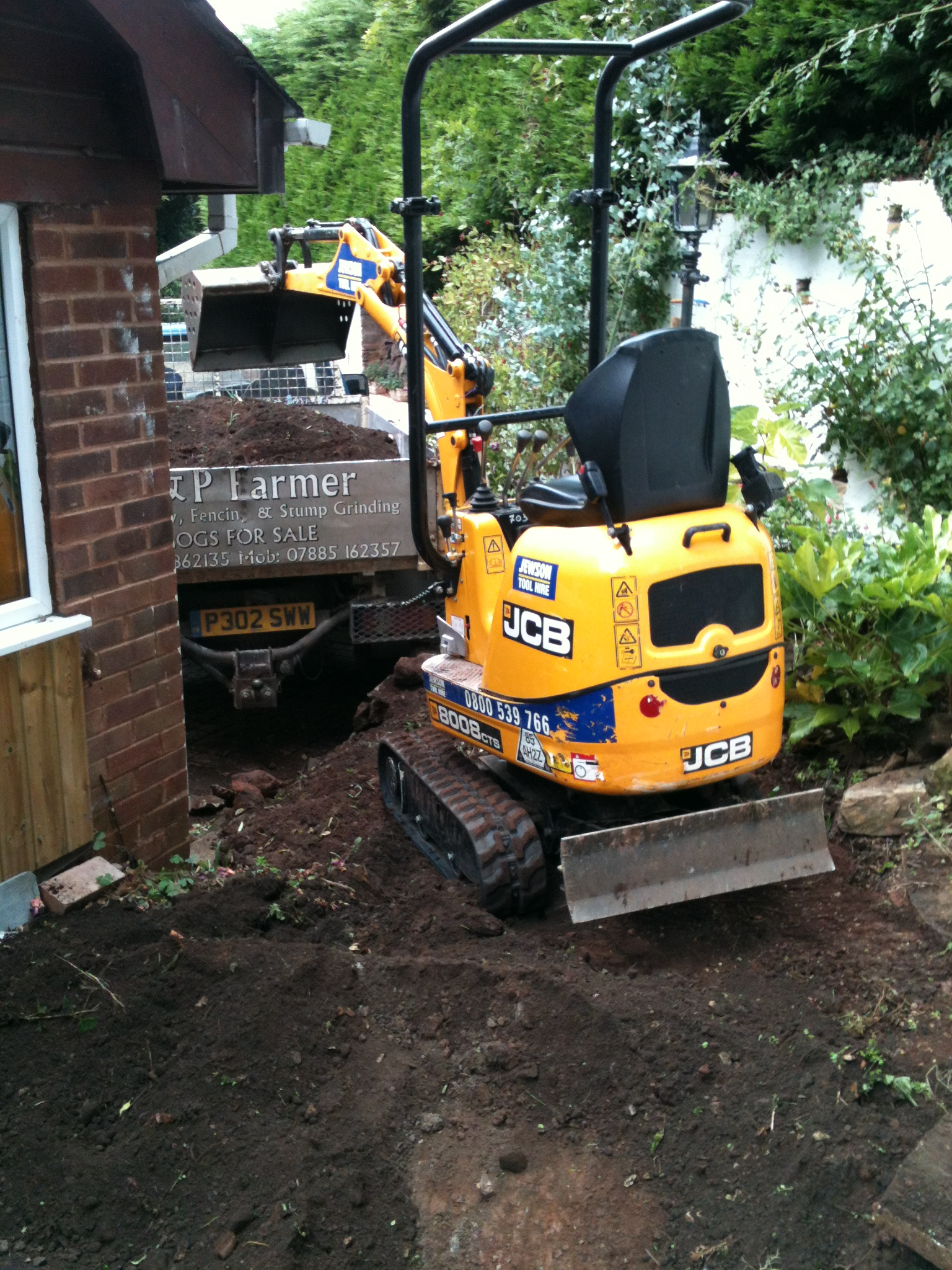 removal of excess dirt