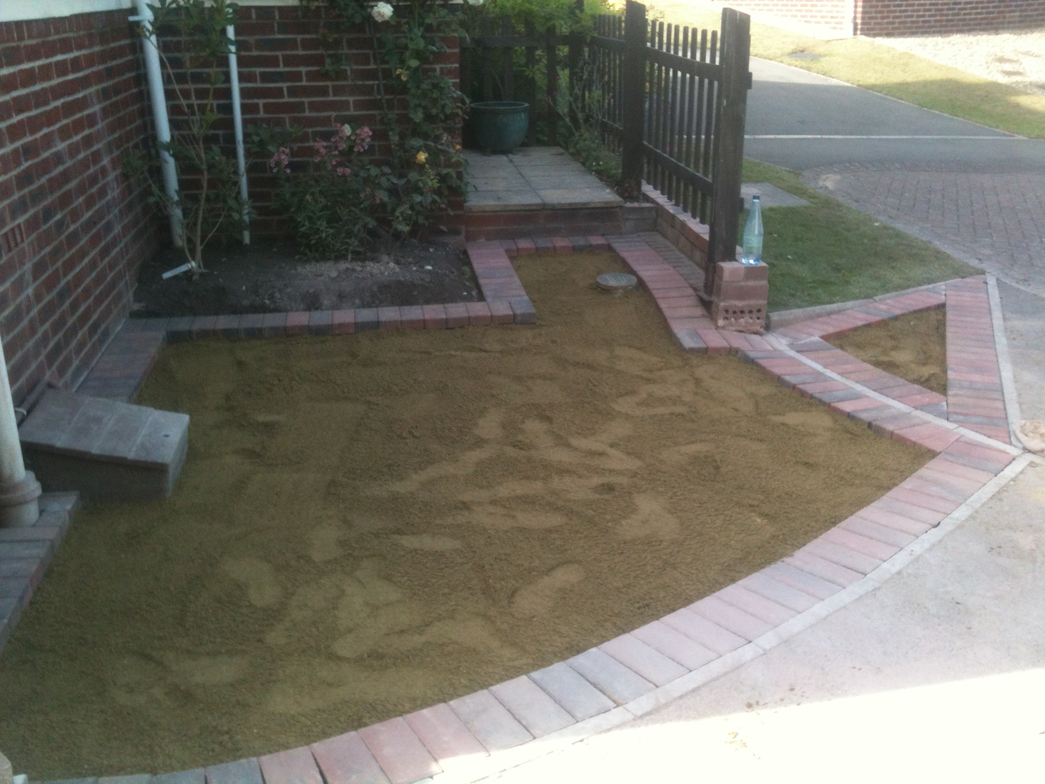 brick paving preparations