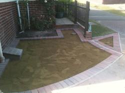 brick paving preparations