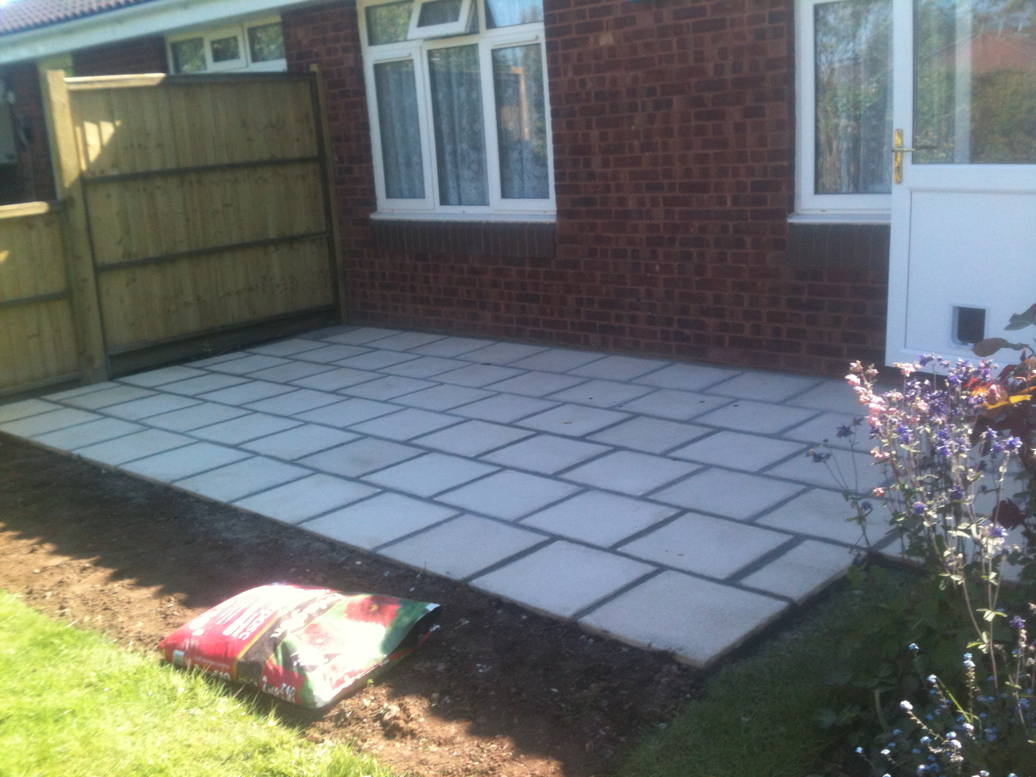 patio laid on previous area