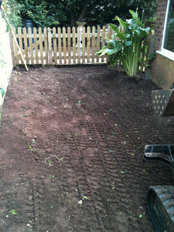 garden cleared and rolled ready