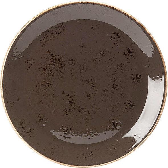 Тарелка мелкая «Крафт», D 30, круглая; серая
