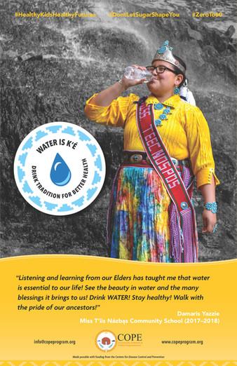 Damaris Yazzie Water Champion Poster