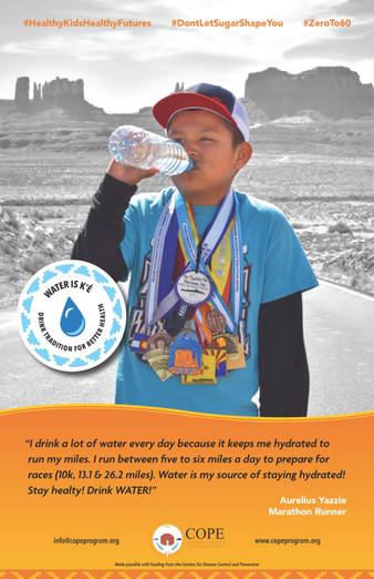 Aurelius Yazzie Water Champion Poster
