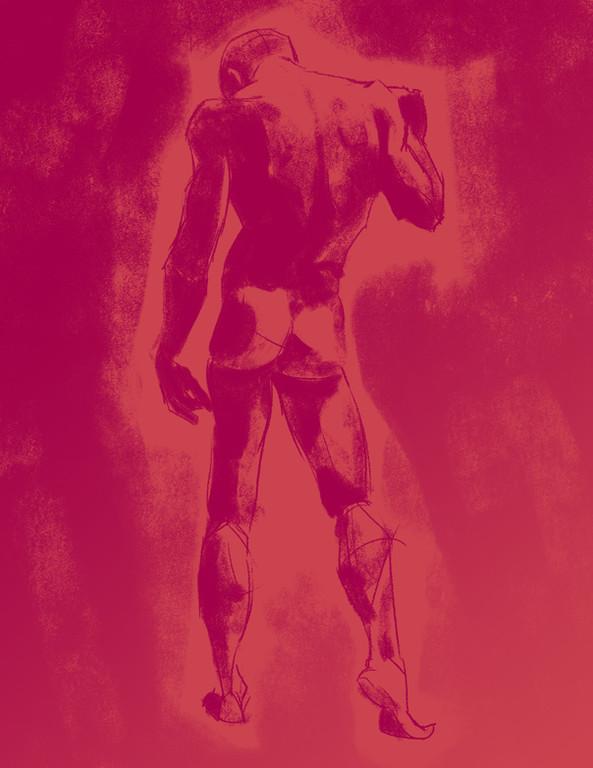 life drawing, figure drawing, anatomy study, procreate, digital art