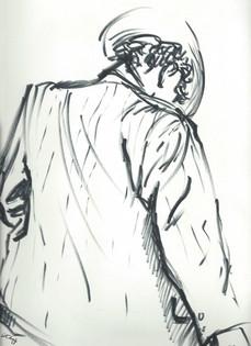 figure drawing, life drawing, live model, michael jackson, sharpie drawing