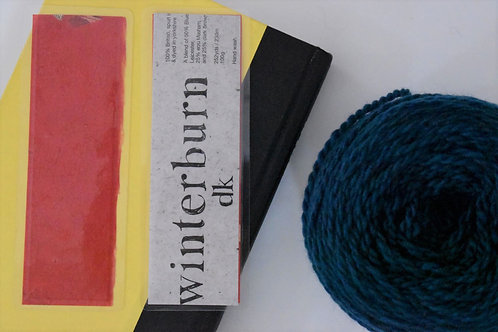 Red Recycled Yarn Label Bookmark