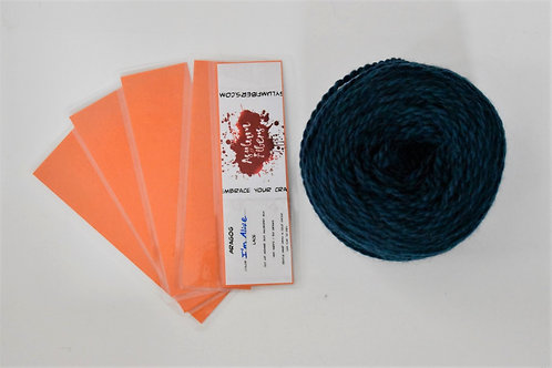 Orange Recycled Yarn Label Bookmark