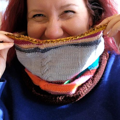 Magic Ball Cowl Knit Pattern