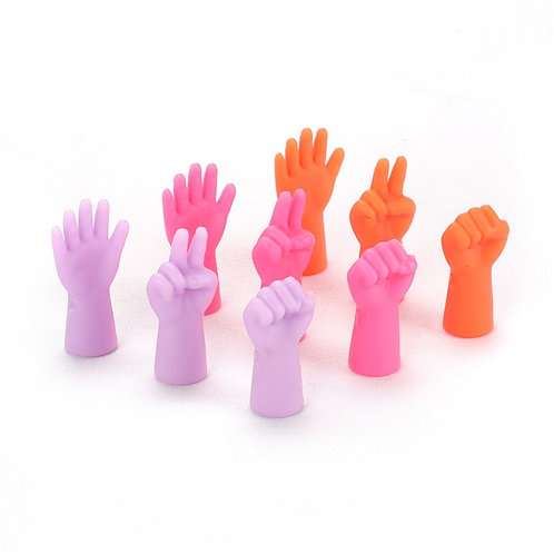 Cute Hands Knitting Needle Point Protectors ( 6 pcs)