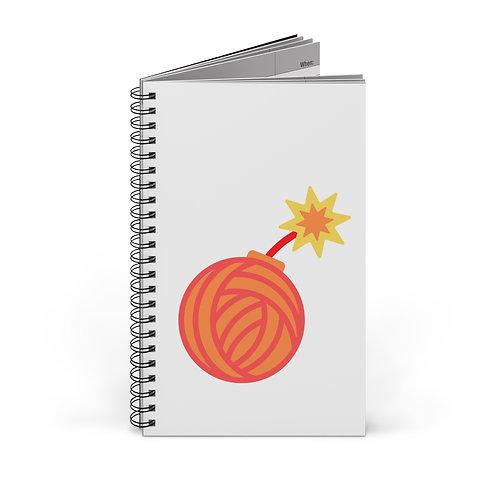 Yarn Bomb Journal | Dot Grid Spiral Journal | Spiral Journal