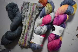 Yarn Ink and Socks Yeah! with swatch