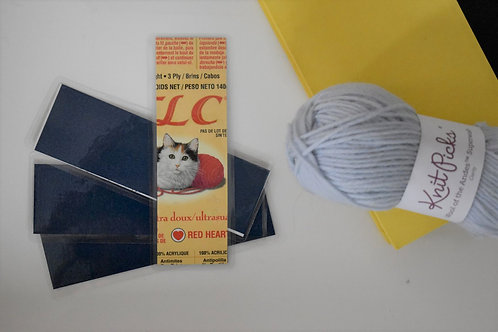 Navy Recycled Yarn Label Bookmark