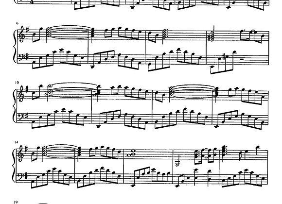 Sheet Music for Tsuki no Akari (theme of love) from Final Fantasy
