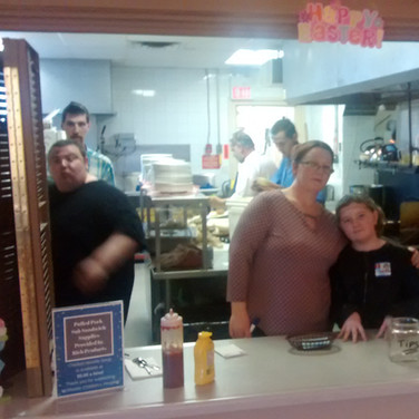 Service with a smile! Thank you to all our volunteers!
