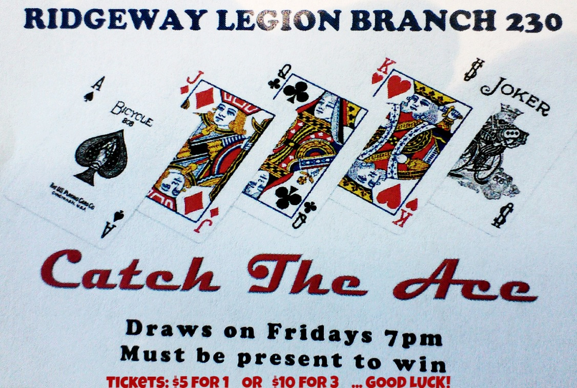 Catch the Ace next draw Nov 13th, 2020