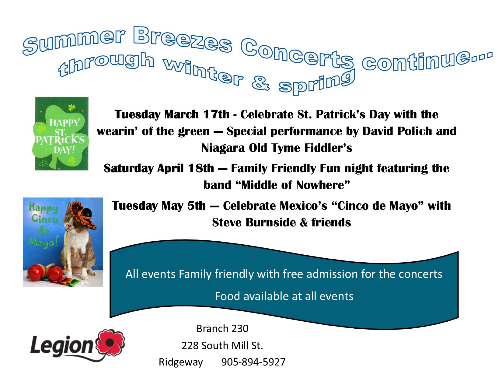 Concerts at our Legion