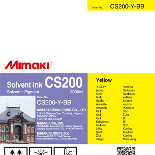 CS200 Solvent ink bottle Yellow