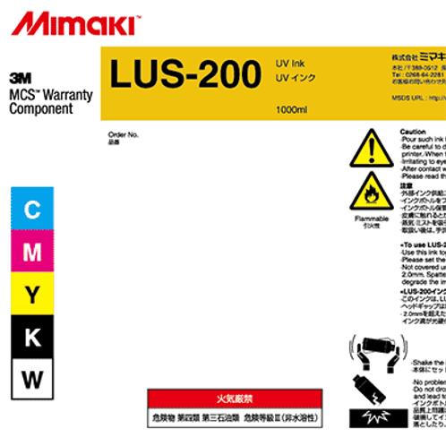 LUS-200 UV curable ink 1L bottle Black