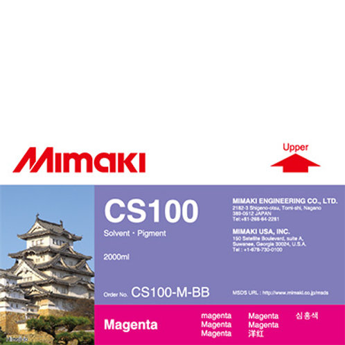 CS100 Solvent ink bottle Magenta