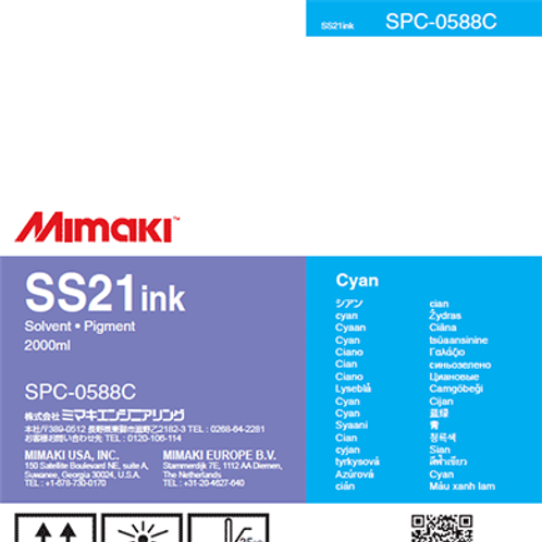SS21 Solvent ink pack Cyan