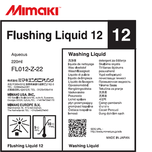 Flushing Liquid 12 Cartridge