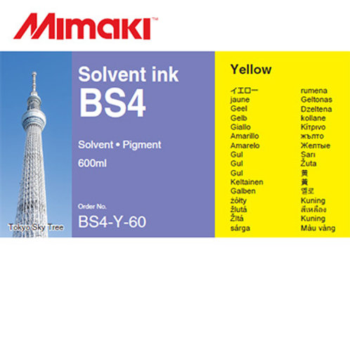 BS4 Solvent ink pack Yellow