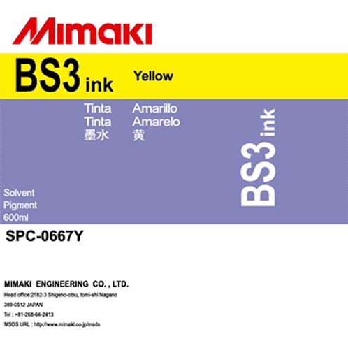 BS3 Solvent ink pack Yellow