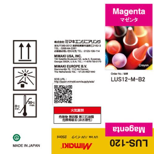 LUS-120 UV curable ink 250ml bottle Magenta