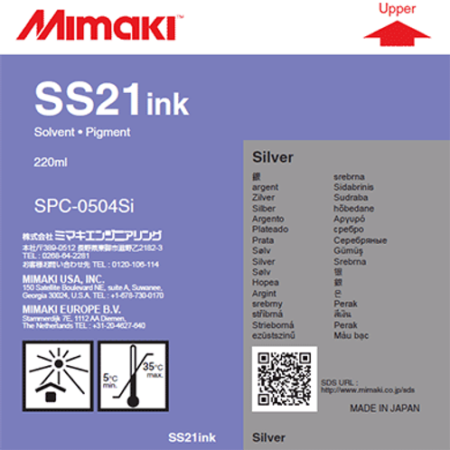 SS21 Solvent ink cartridge Silver