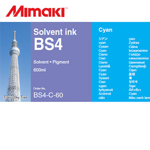 BS4 Solvent ink pack Cyan