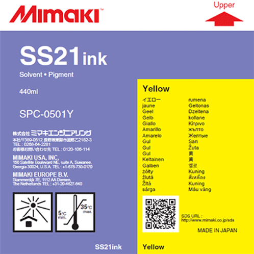 SS21 Solvent ink cartridge Yellow