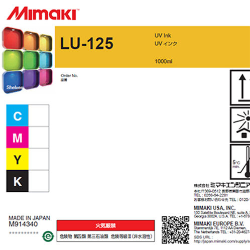 LU-125 UV curable ink 1L bottle Yellow