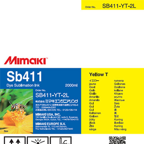 Sb411 Dye sublimation ink pack Yellow T