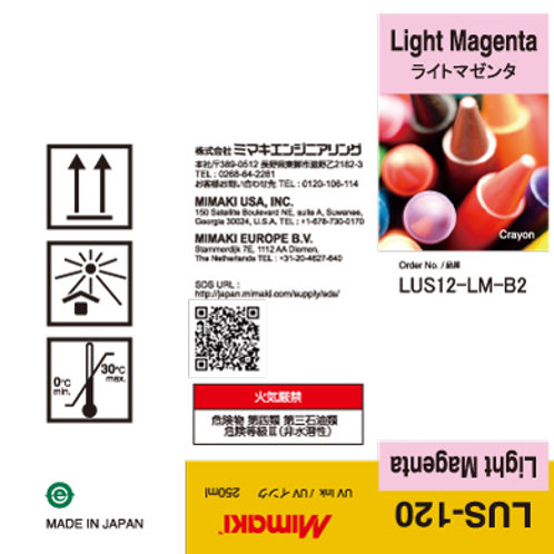 LUS-120 UV curable ink 250ml bottle Light Magenta