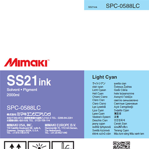 SS21 Solvent ink pack Light Cyan