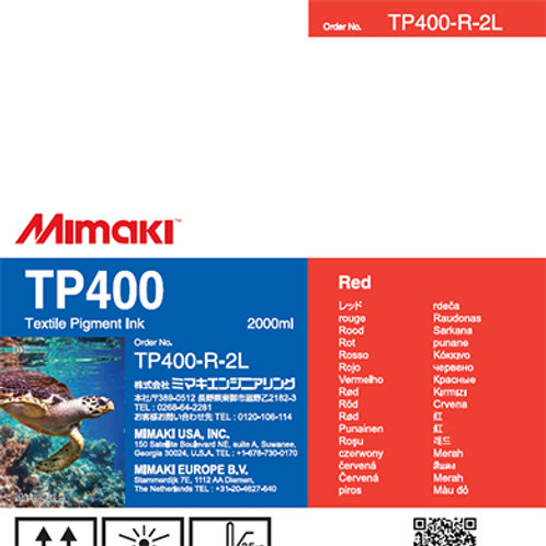 TP400 Textile pigment ink pack Red