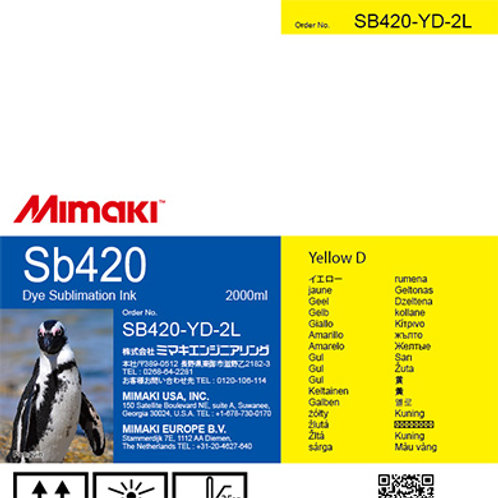 Sb420 Dye sublimation ink pack Yellow D