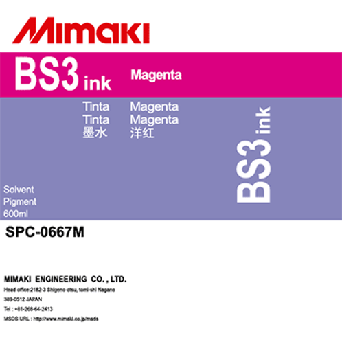 BS3 Solvent ink pack Magenta