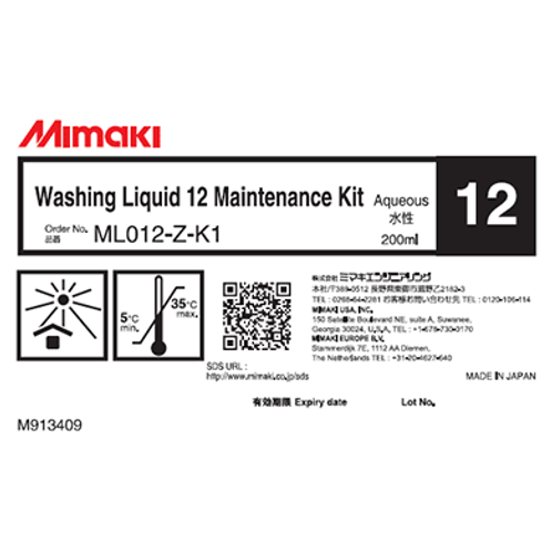 Washing liquid 12 Maintenance kit
