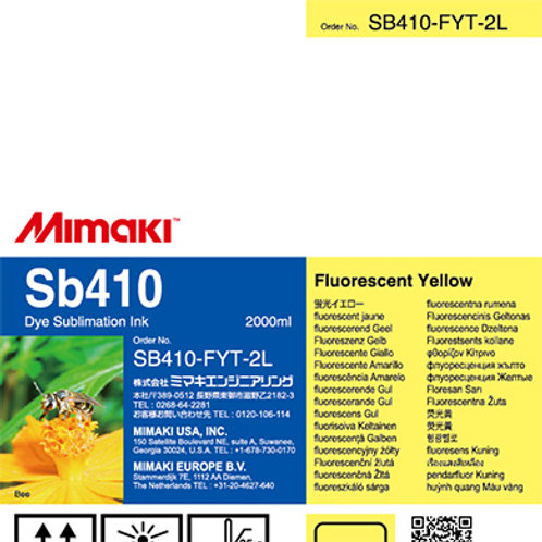 Sb410 Dye sublimation ink pack Fluorescent Yellow T
