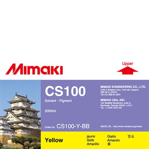 CS100 Solvent ink bottle Yellow