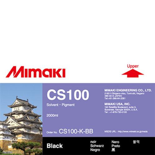CS100 Solvent ink bottle Black