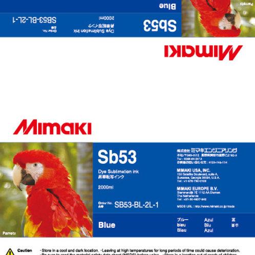 Sb53 Dye sublimation ink pack Blue