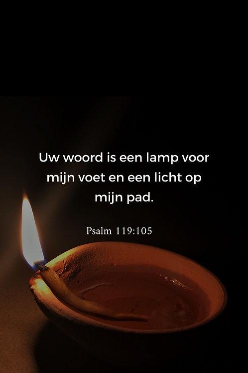 Kaart psalm 119:105