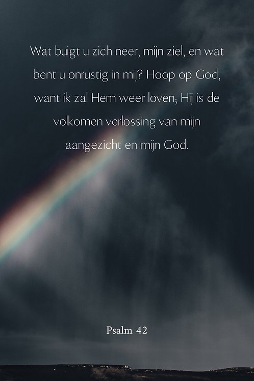Kaart Psalm 42 Regenboog
