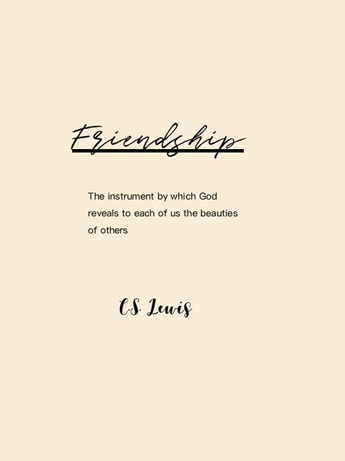 'Vriendschap' kaart
