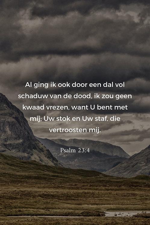 Kaart psalm 23:4