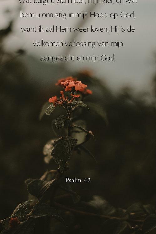 Kaart psalm 42 Bloem