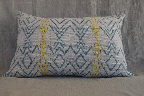 Lambswool symbols cushion